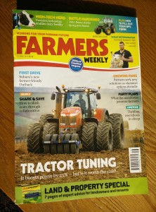 JVFG article on cover of Farmers Weekly April 2015