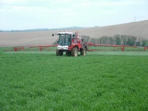 Efficient spraying at JVFG member JV Farming Picture: JV Farming