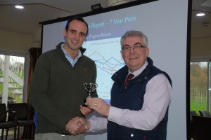 Chris Middleditch won the JVFG trophy for lowest cost per tonne for winter wheat and oilseed rape.