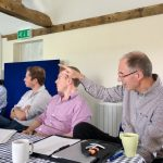 Charles Matts, Brixworth Farming Company, points to the lessons learned at JVFG meeting
